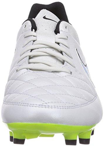 Nike Tiempo Genio Leather FG Homme Chaussures de Football Blanc