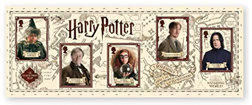 Harry Potter Postage Stamp Miniature Sheet 2018-5 x 1st Class Royal Mail Collectible Stamps (Harry Potter Professor Snape)