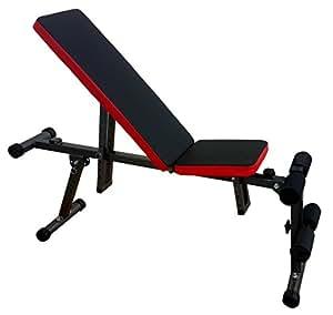 Kobo EB-1006Steel Exercise Bench (Black/Red)