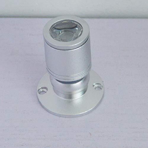 Mini Schmuck Showcase Einstellbare 360   Grad Low Voltage LED Highlight Kleine Spotlight Pink 1W Silber -