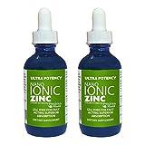 Schön Gesundheit Ultra Potenz Hochfeste Nano Ionic Flüssig Zink 60ml Doppelpack - Gut für Level Of Wachsamkeit, Moodiness, Speicher Failure, Tuch Wachstum, Verdauung, Stoffwechsel, Wund Heilung Und