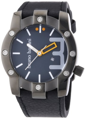 Bruno Banani Herren-Armbanduhr XL Seth Analog Quarz Leder BR22070