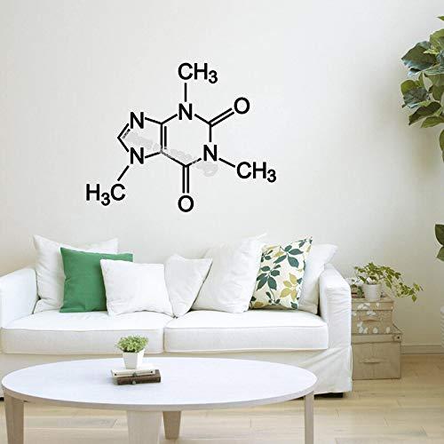 TYLPK Koffein Molekül Wandaufkleber Wissenschaft element Aufkleber Chemische Gleichung Decor Schule Klassenzimmer Labor Arbeitszimmer Aufkleber EB552 70x56 cm