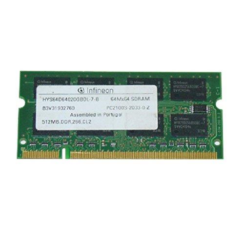 512MB Ram Laptop SODIMM Infineon hys64d64020gbdl-7-b DDR1pc-2100s 266MHz -