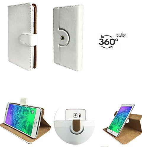 Handy Hülle für - MEDION Life E5005- mit 360 Grade Dreh & Standfunktion - 360° Nano M Weiß