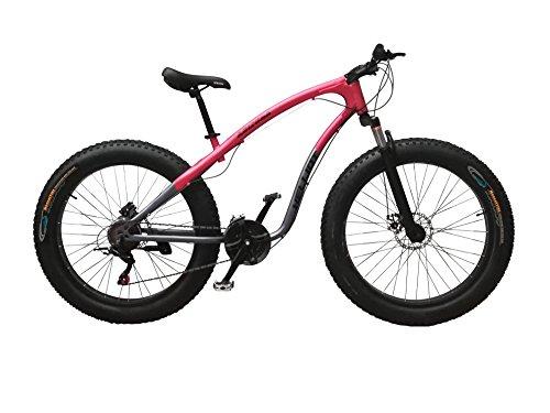 Helliot Bikes Arizona Fat Bike Bicicleta de Montaña, Adultos Unisex, Gris Oscuro/Granate, M-L
