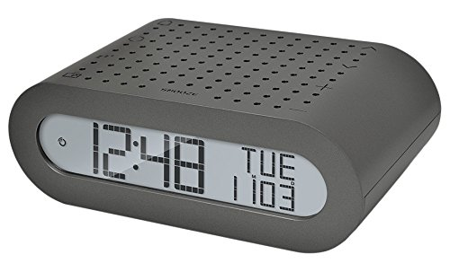 Oregon Scientific RRM116_BK - Reloj despertador digital clásico con radio FM, Gris oscuro plateado...