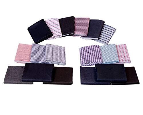 Gwalior Fabkart Men's Synthetic Unstitched Shirts and Trouser Fabric (Multicolour, Free Size) - Pack of 9 Pairs