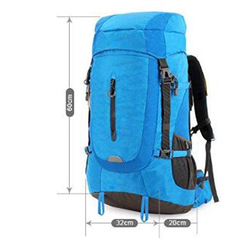 Escursionismo Zaino Multifunzionale Arrampicata Camping Rucksack Impermeabile Borsa Sportiva Outdoor Trekking,Blue Orange