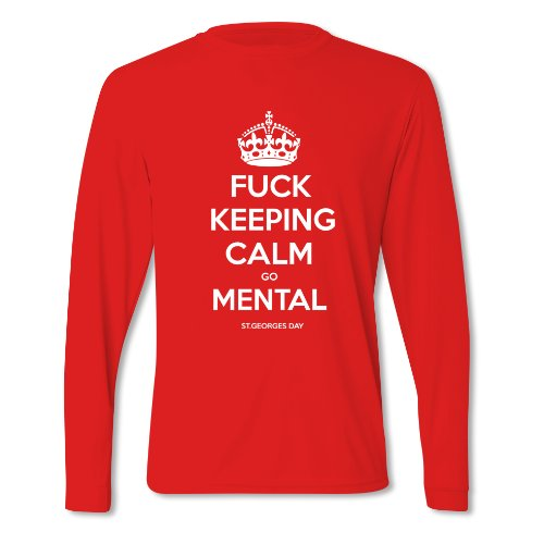 Herren F..K Keeping Calm St George's Day Langärmliges T-Shirt Red