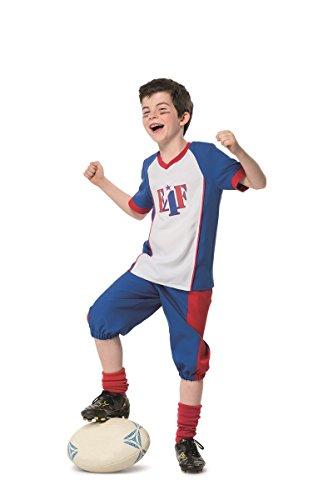 Football Spieler Kostüm Jungen Karneval Fasching Kinderkostüm Weiß Blau (Jungen Kostüme Spieler Football Für)