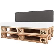 Arketicom Pallet One CHEOPE - Respaldo Cojin Sofa en Palet tejido OUTDOOR Impermeable y Desenfundable -