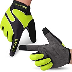 Boildeg Cycling Gloves Cycling Gloves Anti-slip and shock-absorbing mountain bike gloves with signal color Approved Unisex Men Women