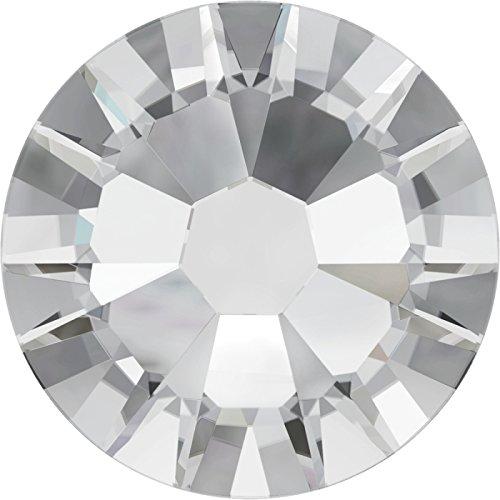 100 Stück Swarovski® Kristalle 2058 KEIN Hotfix, Crystal, SS6 (Ø ca. 2 mm), Strasssteine zum Aufkleben (Xilion Crystal)