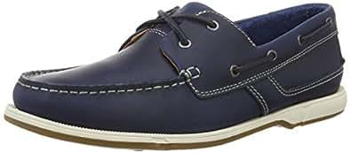 Clarks Men's Fulmen Row Blue Leather Casual Sneakers - 9.5 UK/India (44 EU)