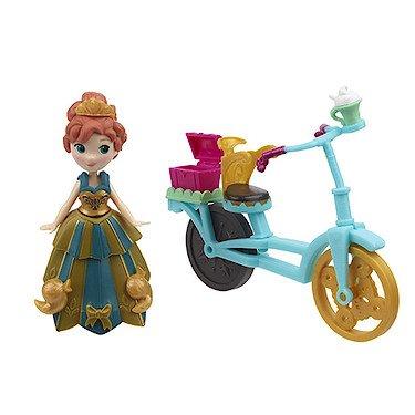 Hasbro B5190 - Disney Die Eiskönigin - Little Kingdom - Figuren & Accessoires - Anna & Fahrrad [UK Import]