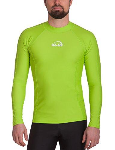 iQ UV 300 Shirt eng geschnitten, langarm, UV-Schutz T-Shirt, Grün (Neongrün), XXL (56) -