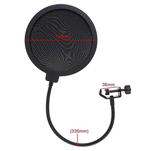 MJTCJY Professionelles Kondensator-Studiomikrofon Doppelschicht-Elastikgitter vergoldet und 3,5 mm verdrahtet for Bühnenkonferenzen (Color : Red)