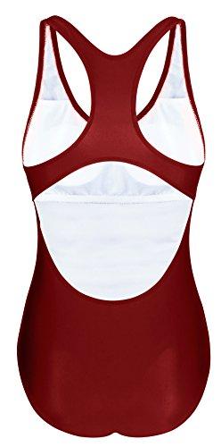 Angerella Donna Pro Training Retro Raceback Un Pezzo Costume Da Bagno vino rosso