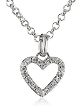 Esprit Kinder und Jugendliche Halskette 925 Sterling Silber rhodiniert Zirkonia ESNL92739A340