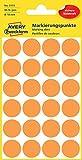 Avery Zweckform 3173 Markierungspunkte (96 Stück, Ø 18 mm) 4 Blatt leuchtorange