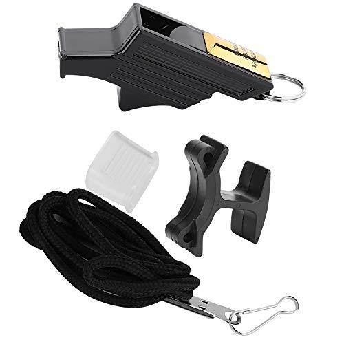 DEWIN Basketball Pfeife-Basketball Sport Schiedsrichter Pfeife Camping Survival Emergency Lifesaving Whistles Black & Gold