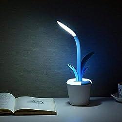 Lampade da Tavolo Eleganti -Furuomu Clivia ricaricabile pieghevole tocco interruttore di protezione degli occhi Mini lettura del LED Desk Lamp colorata atmosfera della luce (blu) (Color : Blue)