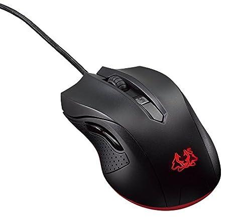 Asus Cerberus Gaming Maus (USB, 6 Tasten, 2.500 dpi, 1000Hz,