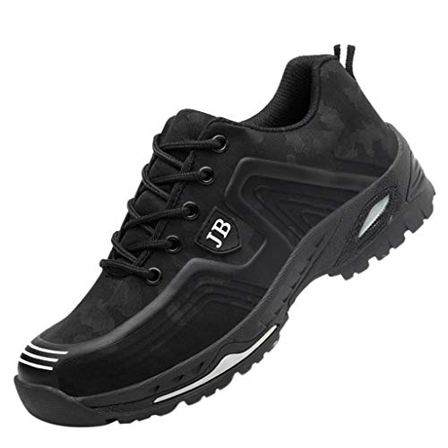 POLPqeD Scarpe Antinfortunistiche Uomo Donna Scarpe da Lavoro con Punta in Acciaio Leggere Traspiranti Sneaker da Lavoro Leggere ed Eleganti Scarpe Sportive di Sicurezza