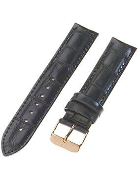 Daniel Wellington Unisex Zubehör Andere Bänder Uhrenband Leder Schwarz DW00200041