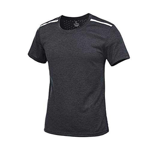 Storerine Herren Sport T Shirt Fitness Funktion Training Running Tennis Sportshirt Männer Funktionsshirt Kurzarm Trainingsshirt Laufshirt schnell trocknend atmungsaktiv Top Bluse -