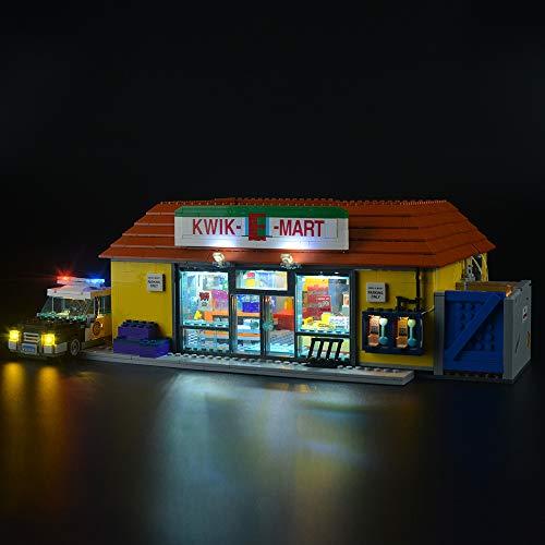 LIGHTAILING Conjunto de Luces (Simpsons The Kwik-E-Mart) Modelo de Construcción de Bloques - Kit de luz LED Compatible con Lego 71016(NO Incluido en el Modelo)