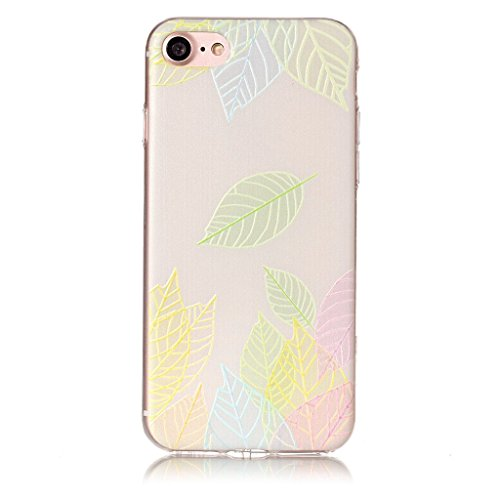 Custodia iPhone 7 ,JIENI Trasparente Cover Moda Palloncini colorati Flessibile TPU Silicone Bumper Case per Apple iPhone 7 HX49