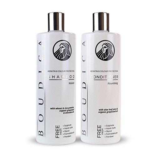Boudica Volumen sulfatfreies Shampoo - 500 ml und Boudica pflegender sulfatfreier Conditioner - 500ml (Shampoo Salz Freie)