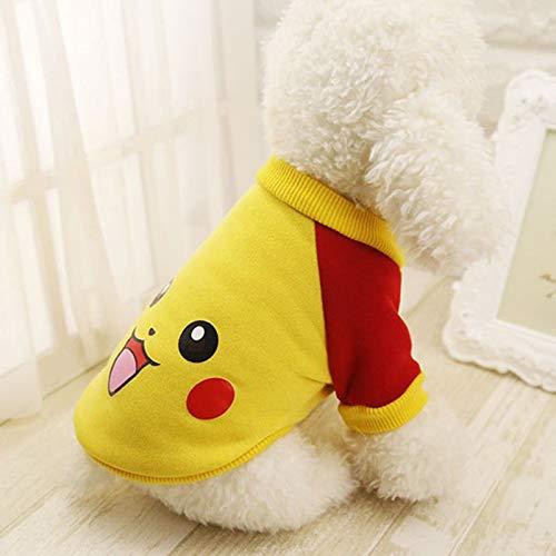 lipanpan Teddybär-Hundepersönlichkeit Zwei Fuß Niedliches Karikaturschwammbaby Kleidet Haustierkleidung Welpenmilchhundewelpenkleid (Niedlich Pikachu Kostüm)