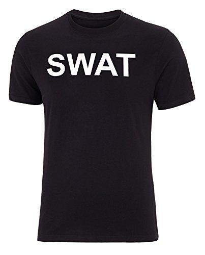 T-Shirt mit Aufdruck FBI POLICE SWAT SECURITY 100% Baumwolle SWAT M (Swat Kostüm Shirt)