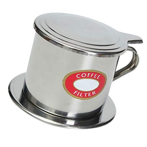 LOVIVER Filtro de Café Vietnamita de Acero Inoxidable Accesorios de Cocina Color Plata - 50 ml