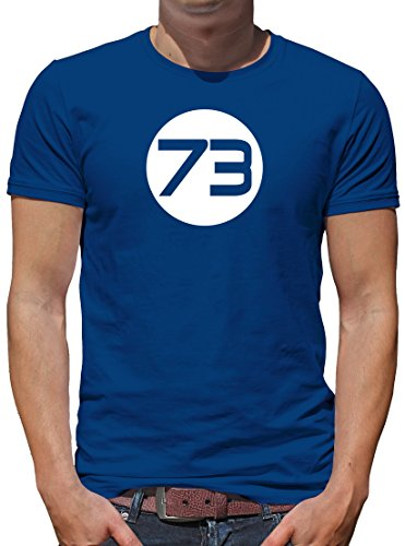 Halloween Sheldon Kostüme (TLM Sheldons Best Number 73 T-Shirt Herren L)