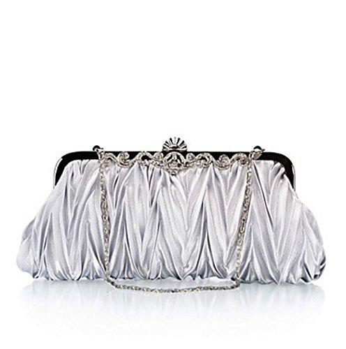 WZW Donna Poliestere Formale / Serata/evento / Matrimonio / Ufficio e lavoro Borsa da sera Beige . silver silver