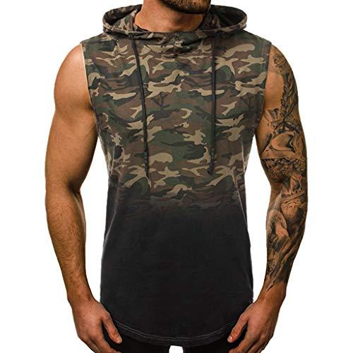 JiaMeng Camisetas Elástica Fitness sin Mangas Tank