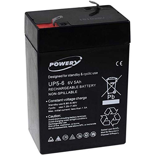 akku-net Blei-Gel Akku für Solaranlagen Notbeleuchtungen Alarmanlagen 6V 5Ah (ersetzt auch 4Ah 4,5Ah), 6V, Lead-Acid