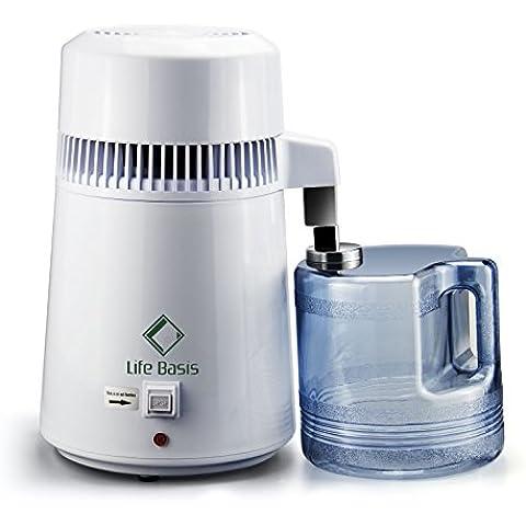 LifeBasis Distillatore Acqua Automatico Acciaio Inox Interno