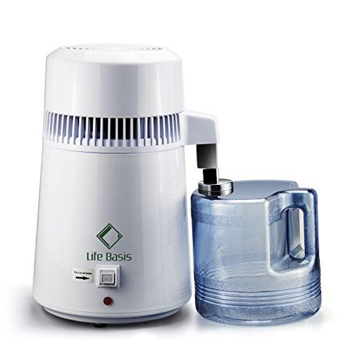 LifeBasis Distillateur d'eau avec Récipient collecteur de Polypropylène de 4L, Un Testeur...