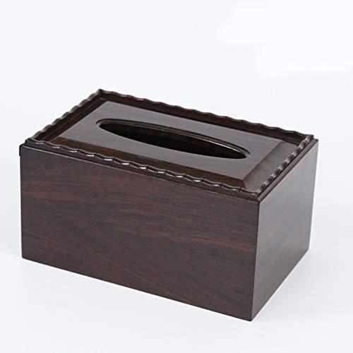 Wjsw tissue box holder nero ebano e fine crafts decorazione, stile vintage a mano lucido carving kleenex portatovaglioli arredamenti, 19 * 12 * 10cm