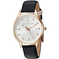 Ted Baker Damen Rose Gold Schwarz Armbanduhr