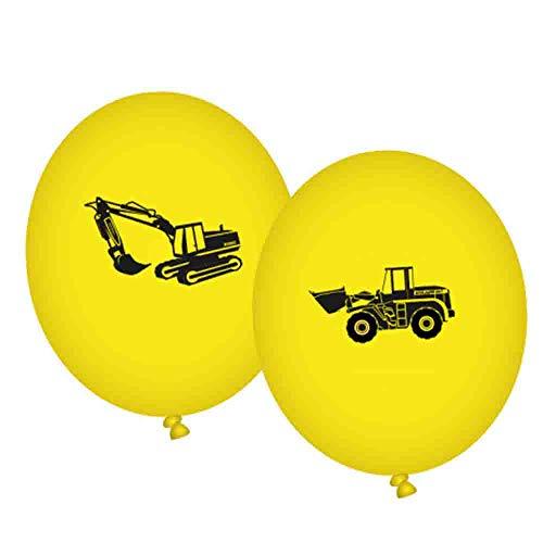 KDHBAUBALL004 8 Luftballons * BAUSTELLE