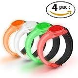 UOON LED Armband [4 Pack], Safety LED Light Strobe lights for Running Jogging