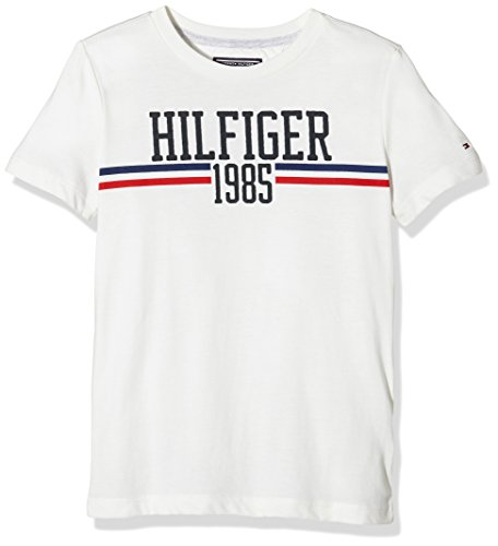 Tommy Hilfiger Icon Cn Tee S/S, T-Shirt Bambini, Bianco, 80 cm