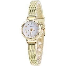 Sunnywill Frauen Mädchen Damen Schöne Mode Design Edelstahl Mesh Band Armbanduhr für Weibliche