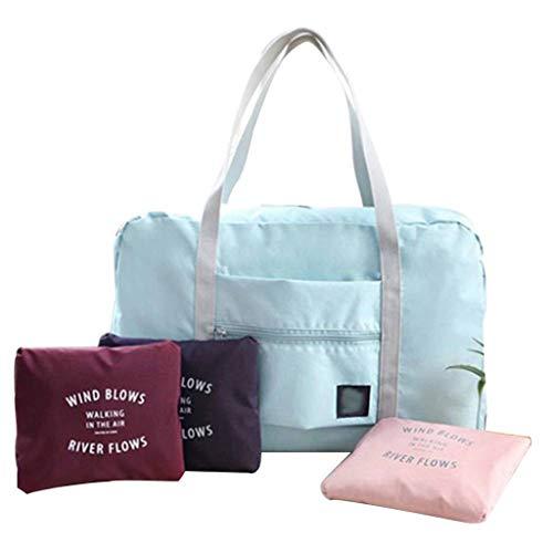 Una bolsa de almacenamiento plegable e impermeable para el hombro, bolsa organizadora 48 x 32 x 16 cm rojo vino